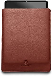 Woolnut Leather Sleeve Cover Case for iPad Pro 11 Inch & 10.9 inch iPad Air - Black / Cognac (WNUT-IPD11-S-416-CB)