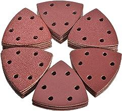 LCOUACEO Delta-schuurmachine, 72 stuks, driehoekige schuurmachine, Delta-schuurdriehoek, klittenbandschuurpads, 40, 60, 8...