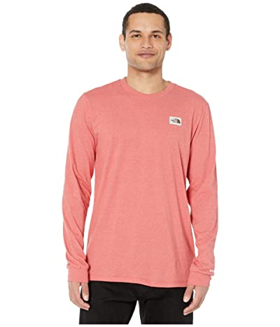 The North Face Long Sleeve Recycled Materials T-Shirt (Sunbaked Red Heather) Men
