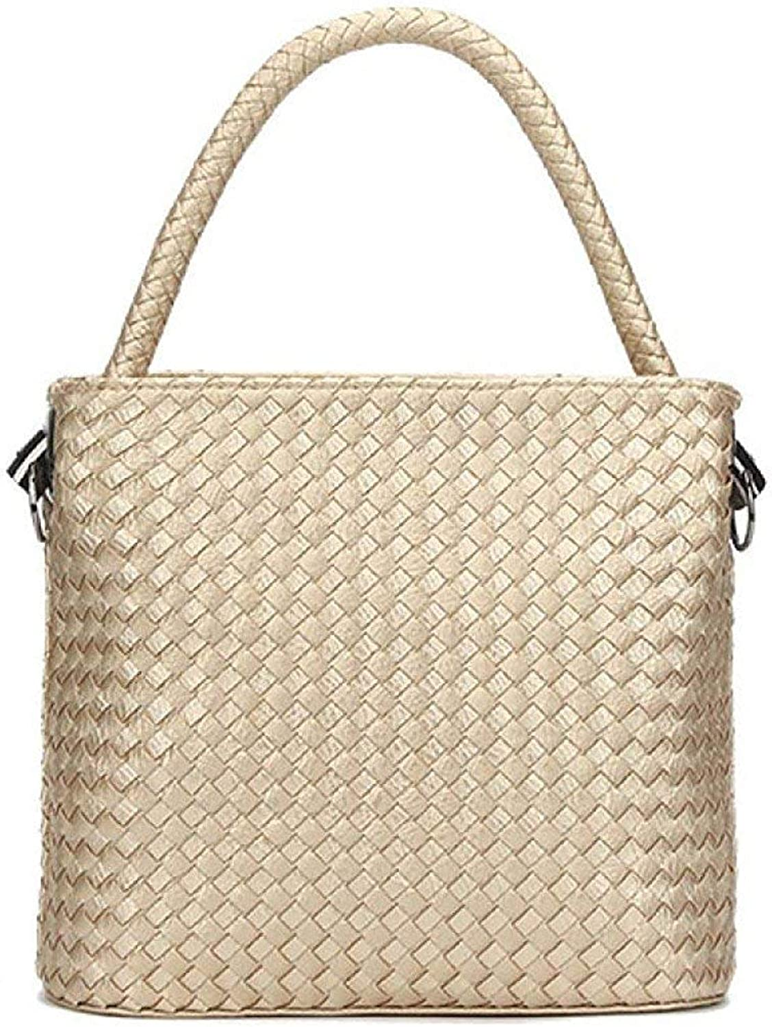 GHANDG Handbag Purse Shoulder Bag Spring and Summer Ladies Korean Version Fashion Woven Bag Messenger Bag Bucket Bag Clutch Bag (color   A, Size   One Size)