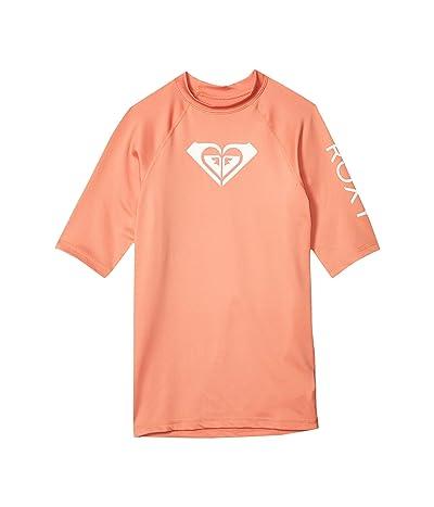 Roxy Kids Whole Hearted Short Sleeve Rashguard (Big Kids) (Terra Cotta) Girl