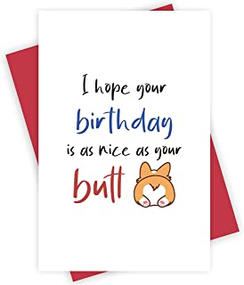 Valentine Card for Husband PRINTABLE Valentine Card Funny Gift for boyfriend her Corgi Butt Happy Valentines Day Card for him Wife