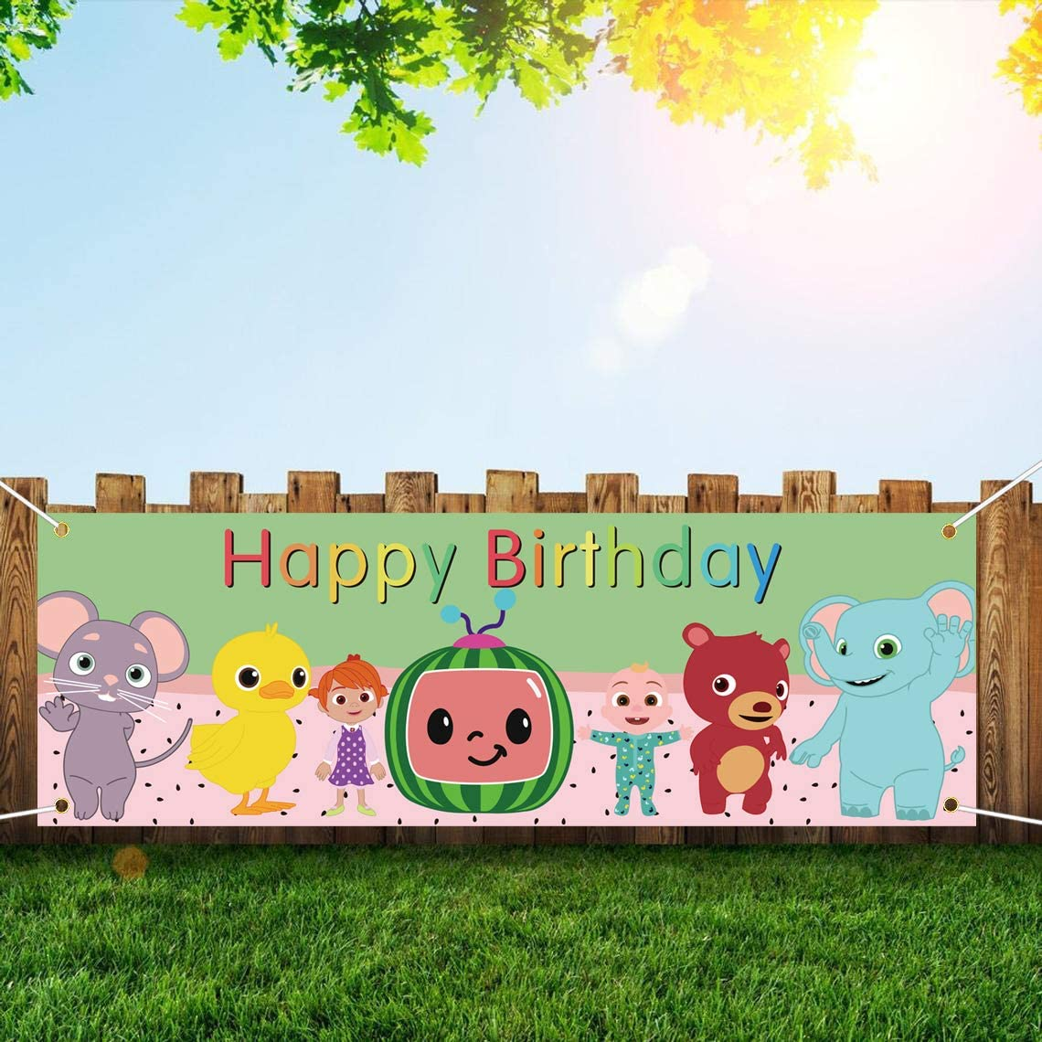 Cocomelon Birthday Banners