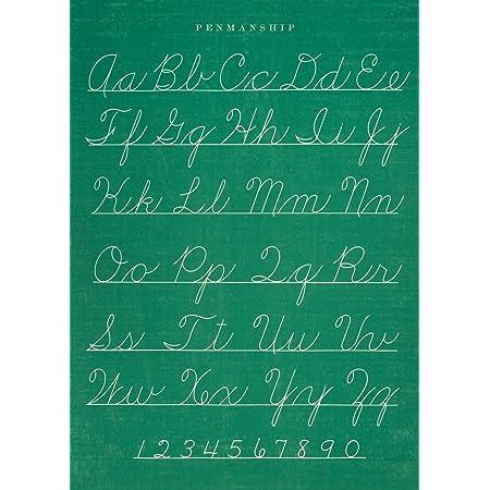 Cavallini /& Co Chalkboard Penmanship Chart Decorative Decoupage Poster Wrapping Paper Sheet