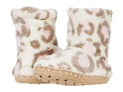 Hatley Kids Painted Leopard Fleece Slippers (Toddler/Little Kid) (Pink) Girl