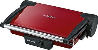 Bosch TFB4402V – Grill Plancha Electrique – Avec 5 niveaux de température ajustables – 1800 W – Rouge