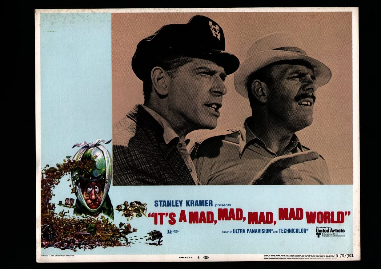 MOVIE POSTER: IT'S A Max 79% OFF MAD 100% quality warranty! #7 FN WORLD-LOBBY CARD VF
