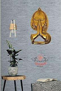 Red Dragon Utkrisht Arts Metal Welcome Lady Wall Hanging - Welcome Namaste Swagatam Lady Figurine