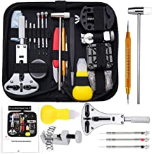 Watch Repair Tool Kit Professional Deluxe Set with Batteries Replacement Kit, Watch Link Removal Tool, Watch Back Case Ope...