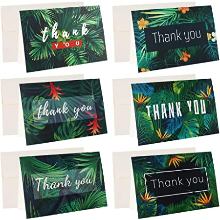 Gift for Mom Tropical Thank You Cards Thank You Notecards Special Thank You Cards Thank-you Cards Thank You Cards And Envelopes Leaves