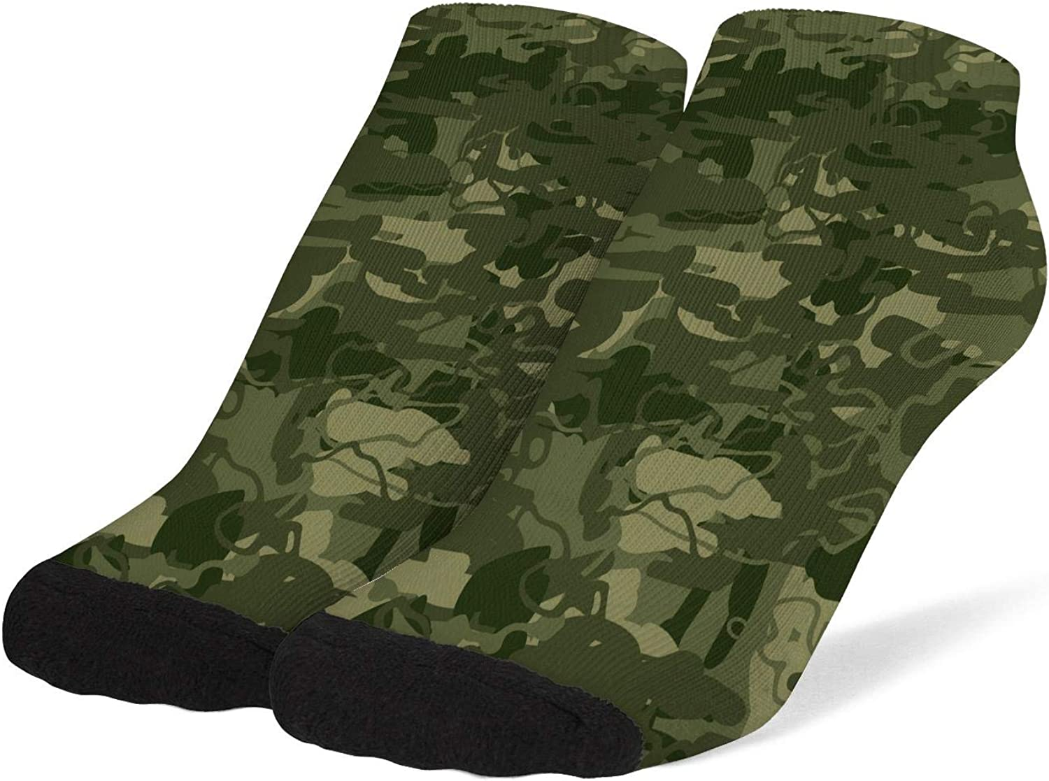 Women's Camouflage Camo Army Socks Cotton No Show Low Cut Sock Ankle Sock