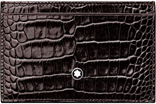 Montblanc Meisterstück Selection - Funda para Tarjetas de crédito, Color marrón Oscuro