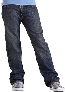 Pull-On Drawstring Washed Indigo 14//16 Big Boys Straight Leg Denim Jean Polo Assn U.S