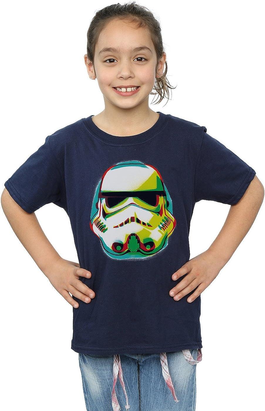 STAR WARS Girls Stormtrooper Command Grafitti T-Shirt 5-6 Years Navy Blue
