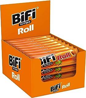 BiFi Roll – Herzhafter, original Salami Fleischsnack – Snack im Teigmantel, 24er Pack 24 x 45 g