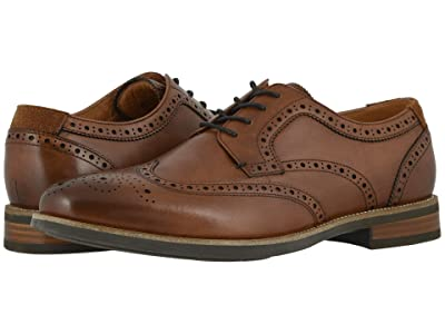 Florsheim Uptown Wing Tip Oxford (Cognac Leather/Suede) Men