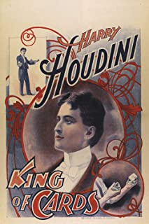 Harry Houdini - King of Cards - Vintage Magic Poster Reproduction (18 x 24)