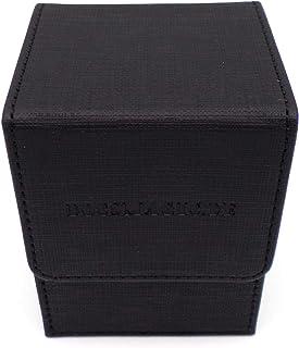 docsmagic.de Premium Magnetic Flip Box (100) Black + Deck Divider - MTG PKM YGO - Caja Negra