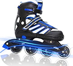 MAXFREE Adjustable Inline Skates, Fitness Roller Skates with High-Performance for Adults and Teen, Outdoorand Indoor