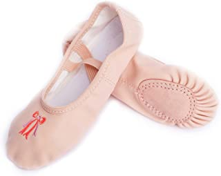 FERMAID Ballet Shoes for Girls Split Sole Flats Leather Dance Shoes (Toddler/Little Kid/Big Kid/Women)
