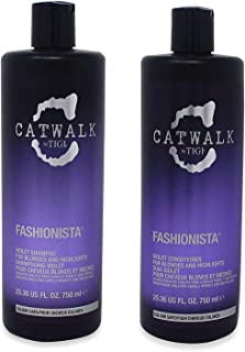 Catwalk Tigi Fashionista Blondes and Highlights Shampoo & Conditioner Set, 25.36 Fluid Ounce