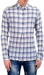 Dolce & Gabbana Men's 1/2 Button Plaid Dress Shirt Size US 16.5 IT 42
