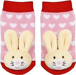 Calcetines Sonajero Conejo 2 a 12 meses Baby Glück Rosa