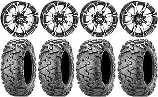 Bundle - 9 Items: STI HD3 14 Wheels Machined 26 BigHorn 2.0 Tires [4x110 Bolt Pattern 10mmx1.25 Lug Kit]