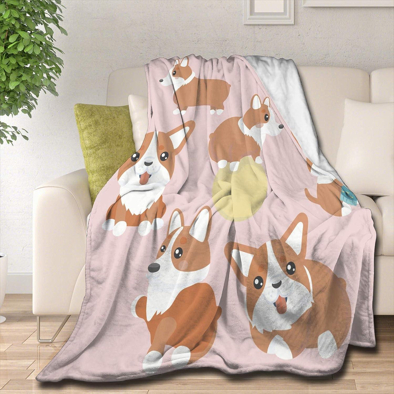 Over item handling Samantabhadra Super sale with Corgi Puppy Velvet Blanket Throw Plush 60