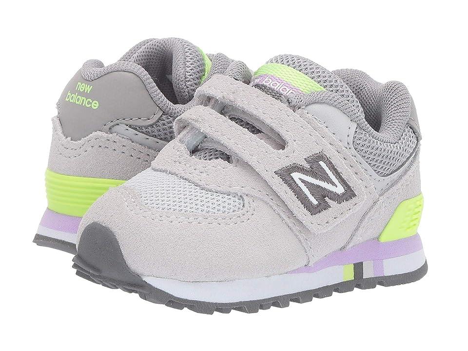 New Balance Kids 574 Summer Shore (Infant/Toddler) (Summer Fog/Bleached Lime Glo) Girls Shoes