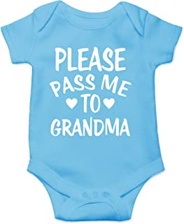 CBTwear Please Pass Me to Grandma - My Grandmother Loves Me - Cute Infant One-Piece Baby Bodysuit