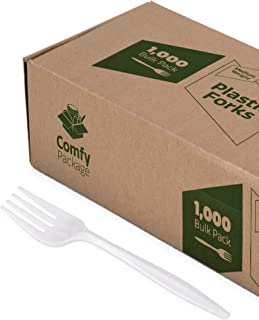 Plastic Forks Medium Weight - White (1000 Count)