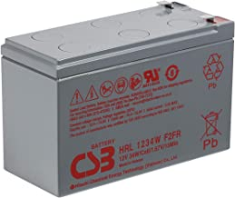 CSB HRL1234WF2FR - 12 Volt/9 Amp Hour (34 Watts) Sealed Lead Acid Battery with 0.250 in. Fast-on Terminals