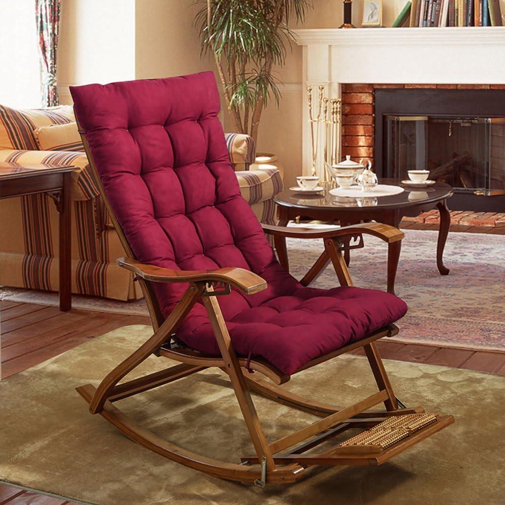 YEARLY Rocking chair cushions Lounge Chair cushions Thicken Lengthen Folding Wicker Chair pads Patio Furniture Overstuffed Bench cushion-gray 48x125cm 19x49inch