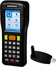 NADAMOO Wireless Barcode Scanner 1D Cordless Data Collector Handheld Portable Data Terminal Inventory Device USB Laser Barcode Scanner with LCD Screen
