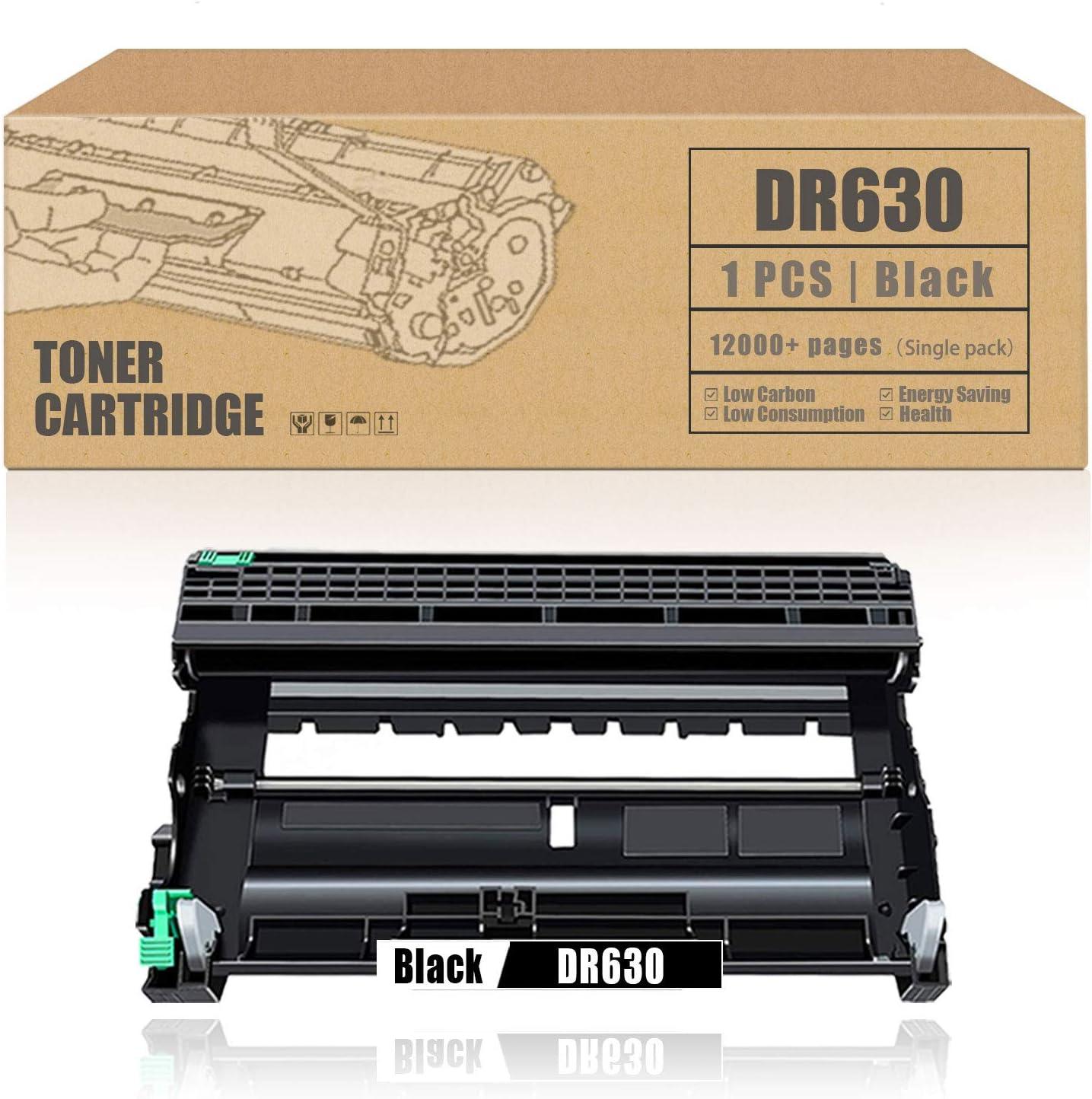 DR-630 DR630 Drum UnitCompatibleReplacementforBrother HL-L2300D HL-L2305W HL-L2320D HL-L2380DW MFC-L2680W MFC-L2685DW MFC-L2700DW DCP-L2520DW Printer [1Pack,Black]