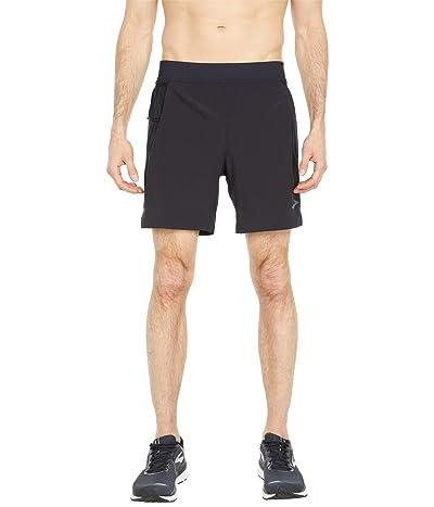 Brooks Sherpa 7 2-in-1 Shorts (Black) Men