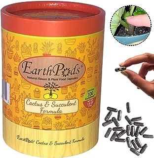 EarthPods Premium Cactus & Succulent Plant Food – Easy Organic Fertilizer Spikes - 100 Capsules - Enhance Color, Stem + Leaf Growth (For Cacti, Succulents, Aloe Vera & Jade Soil, No Urea, Ecofriendly)