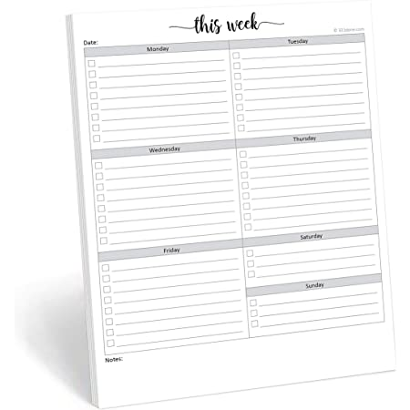 Appointment Book 11.8 x 4 Inches Undated Desk Weekly Daily Calendar Planner Scheduler Memo Pad