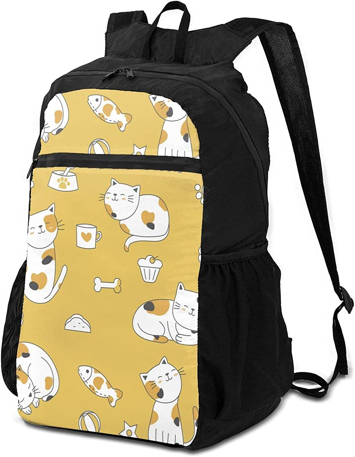 lowest price Cute Multicolored Cat Lightweight Packable Me Cheap SALE Start Women for Backpack