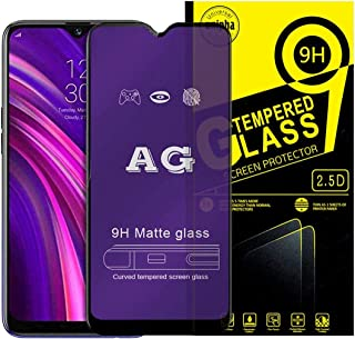 AG 9H Screen Protector Curved Blue Glass Anti-scratch anti fingerprint For oppo realme 3 pro-black