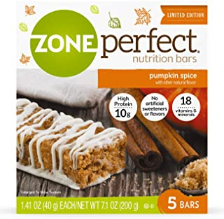 Zoneperfect Classic Nutrition Snack Bars, Limited Edition Pumpkin Spice, 1.41 oz (Pack of 5)
