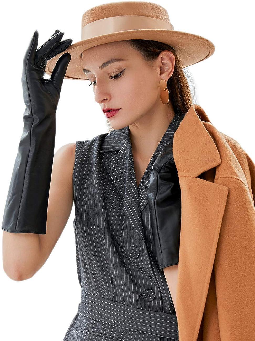 Vikideer Long Genuine Leather Gloves OFFicial shop Women Touchscreen for 2021 model Full