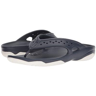 Crocs Swiftwater Deck Flip (Navy/White) Men