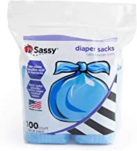 Sassy Disposable Scented Diaper Sacks - 100 Count - 50 Sacks per Roll