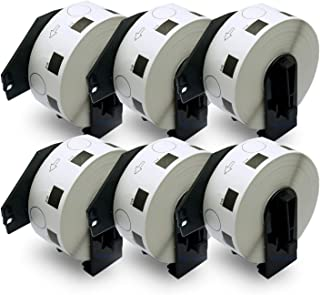 """BETCKEY - Compatible DK-1218 1"""" in Diameter Round Replacement Labels,Compatible with Brother QL Label Printers [6 Rolls/60..."""