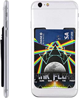 Pink Floyd Durable Leather Phone Card Holder Package for Back with 3M Adhesive Stick-on Phone Wallet, Compatible with Apple iPhone Samsung Galaxy Android Cell Phone