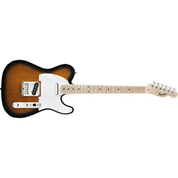 Squier 6 String Solid-Body Electric Guitar, Right Handed, 2 tone sunburst (0310202503)