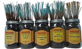 Wildberry Incense Sticks Tropical Set #1: 20 Sticks Each of 5 Scents, Total 100 Sticks!