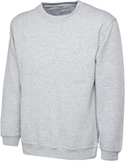 FROOTY Mens Plain Classic Sweatshirt Sweater Jumper Top Casual Work Leisure Sport S-2xl